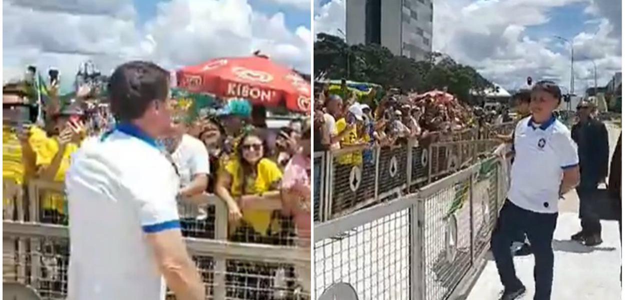 Sem máscara, Bolsonaro faz live ao ar livre e expõe seus ...