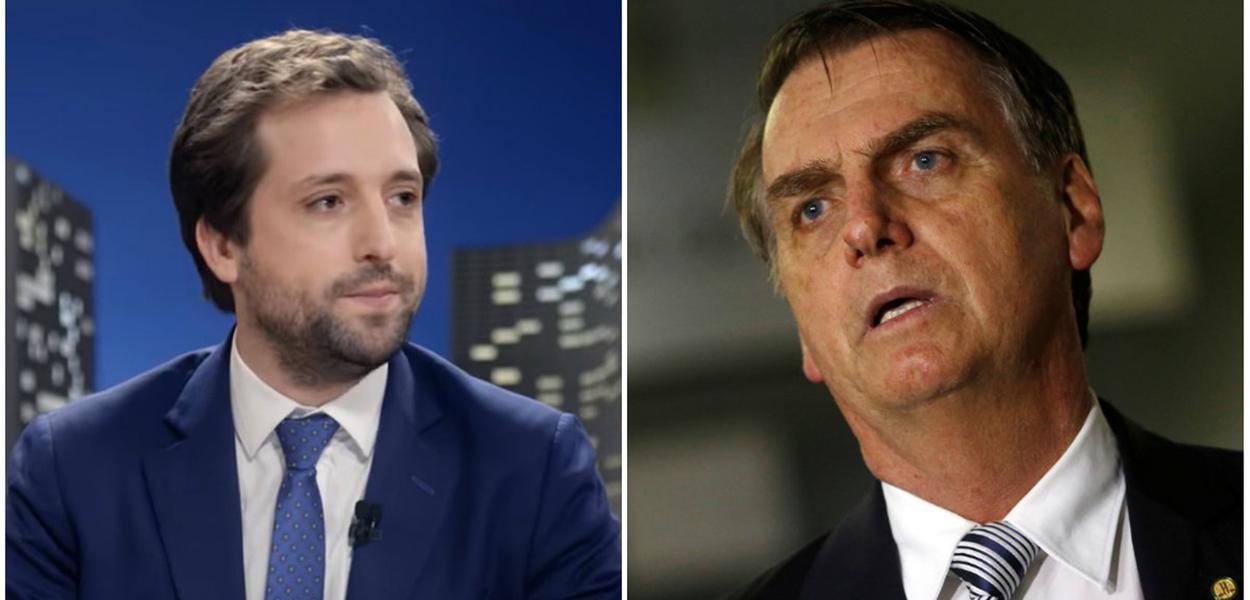 Gregório Duvivier e Jair Bolsonaro
