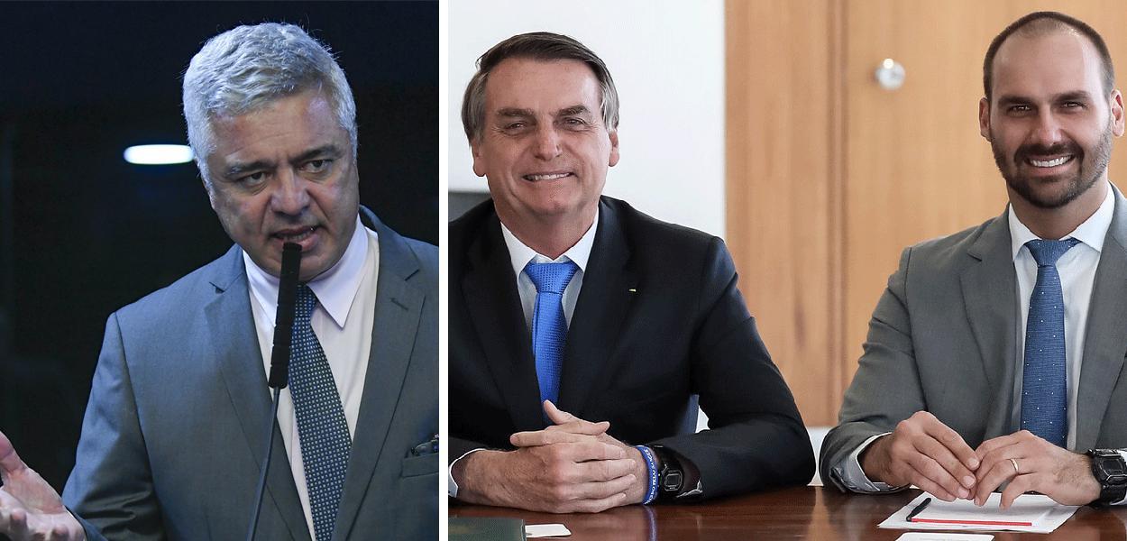 Major Olímpio, Jair e Eduardo Bolsonaro