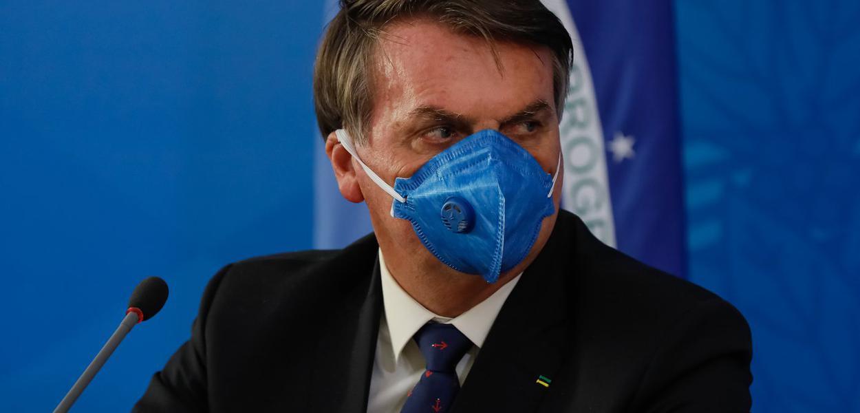 Jair Bolsonaro e Ministro da Saúde, Luiz Henrique Mandetta.