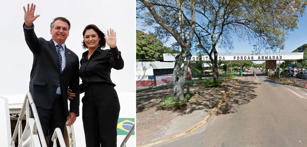 Jair Bolsonaro, Michelle Bolsonaro e o Hospital das Forças Armadas (HFA)