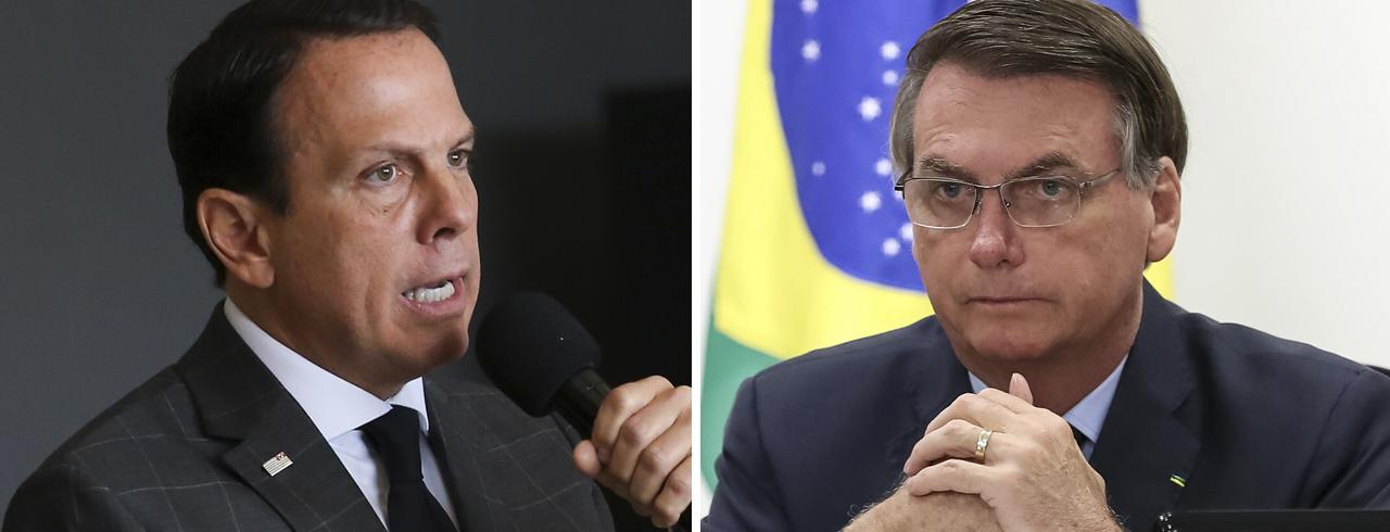 Resultado de imagem para Reunião com governadores do Sudeste tem bate-boca entre Bolsonaro e Doria