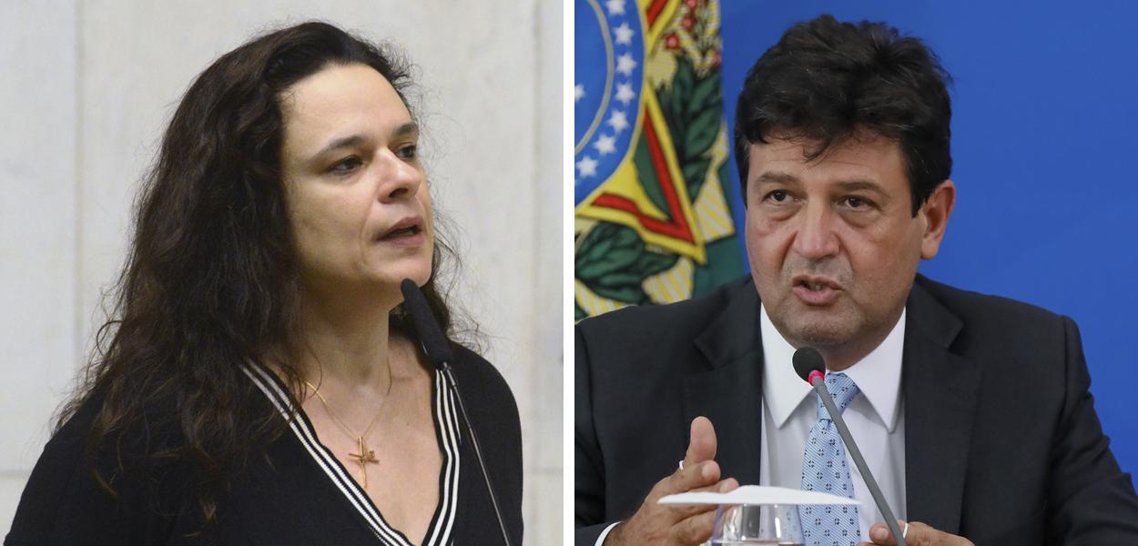 Janaina Paschoal e Luiz Henrique Mandetta