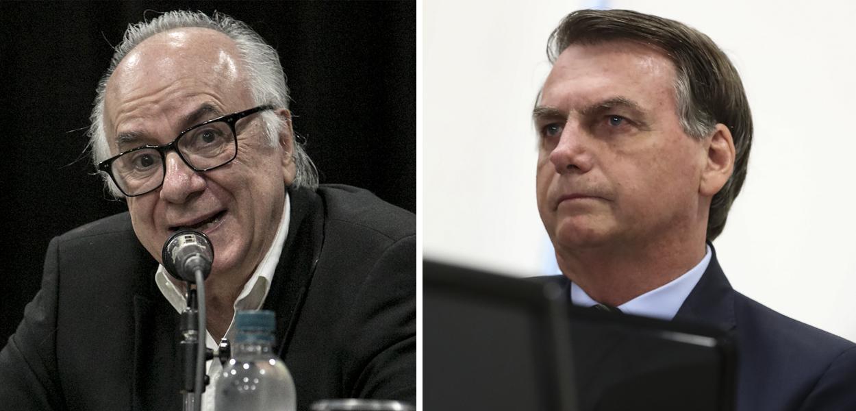 Boaventura Sousa Santos e Jair Bolsonaro