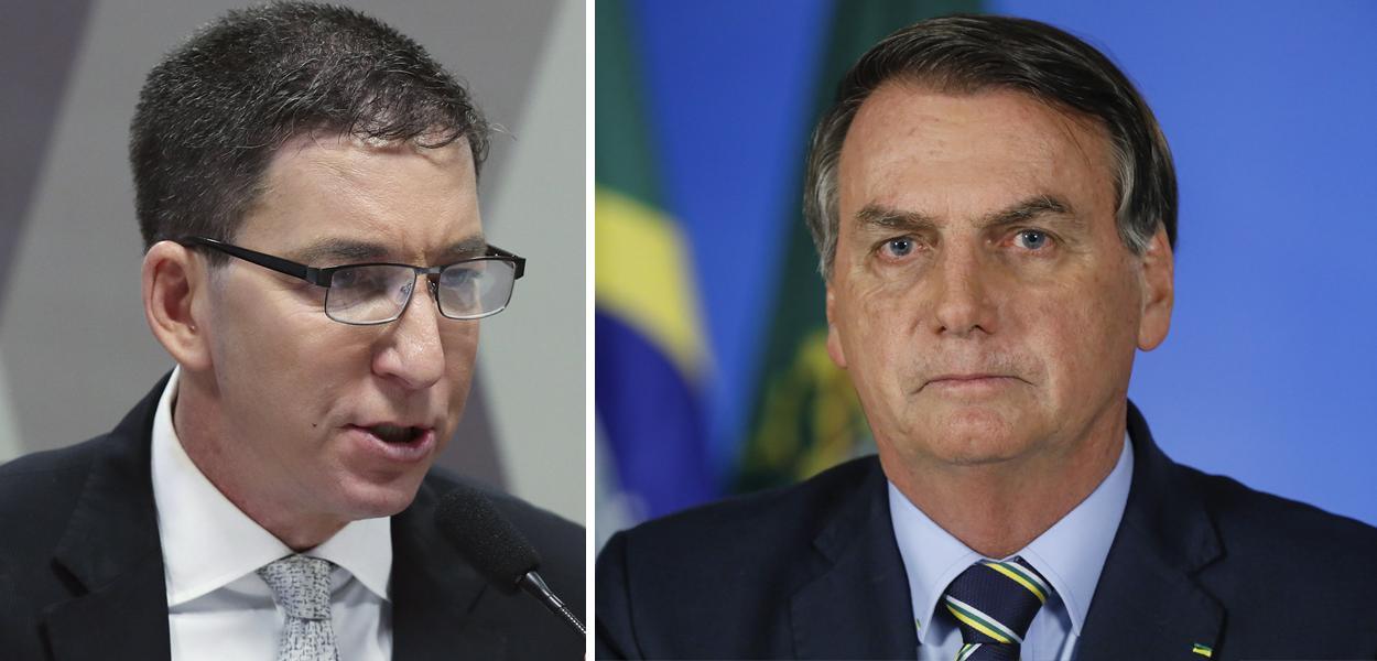 Glenn Greenwald e Jair Bolsonaro
