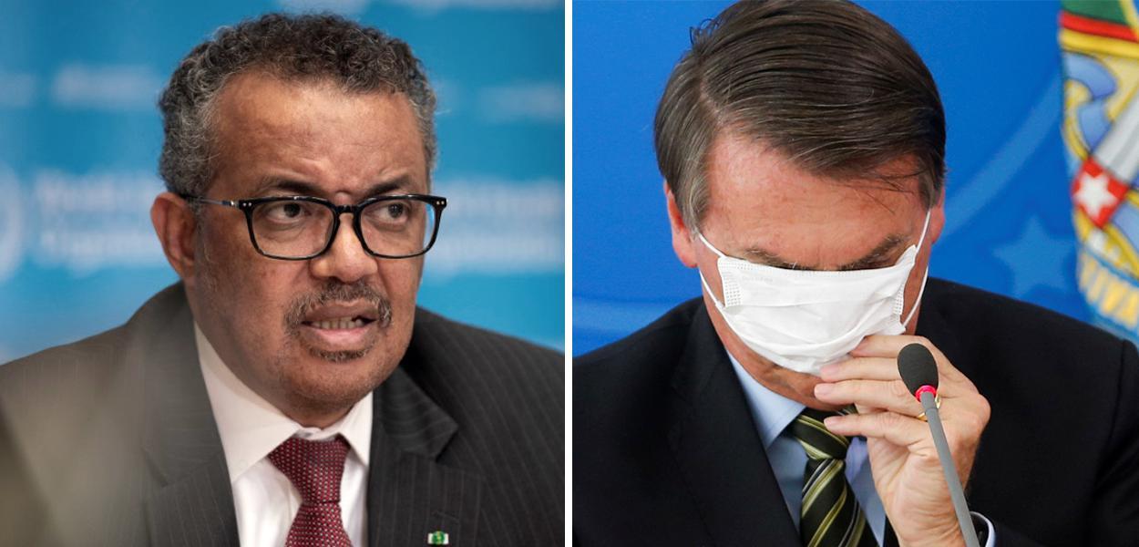 Tedros Adhanom Ghebreyesus e Jair Bolsonaro