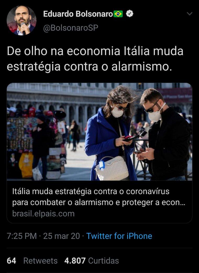 Post de Eduardo Bolsonaro