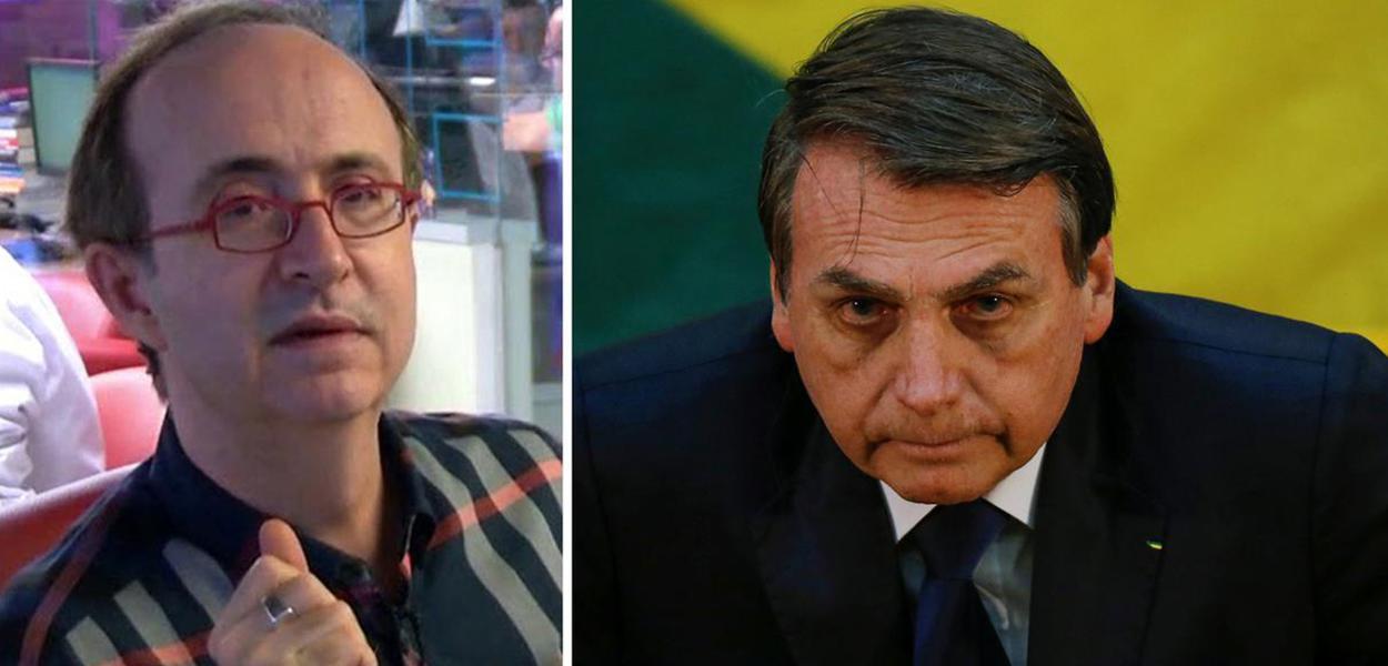 Reinaldo Azevedo e Jair Bolsonaro