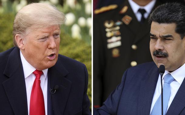 Donald Trump e Nicolás Maduro