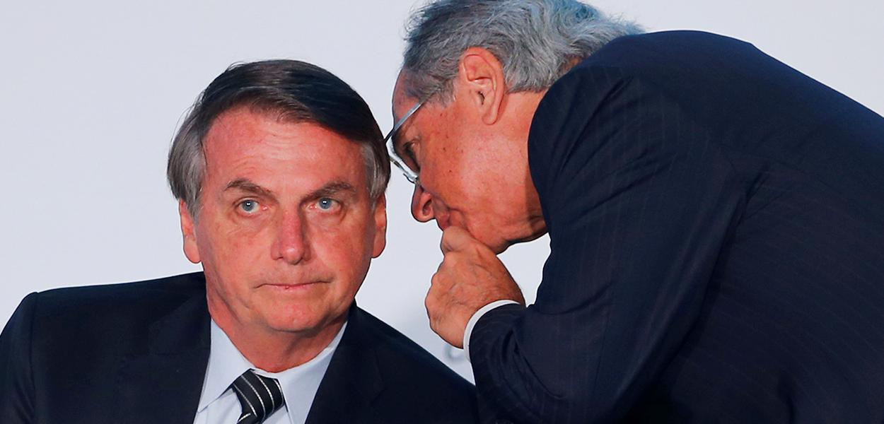Jair Bolsonaro e ministro Paulo Guedes