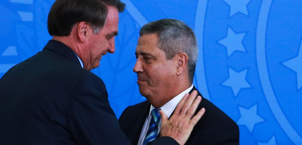 Jair Bolsonaro e Walter Souza Braga Netto