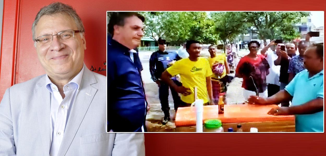 Jurista Eugênio Aragão e Jair Bolsonaro