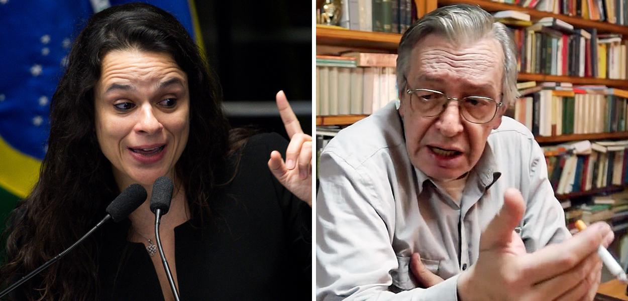 Janaina Paschoal e Olavo de Carvalho