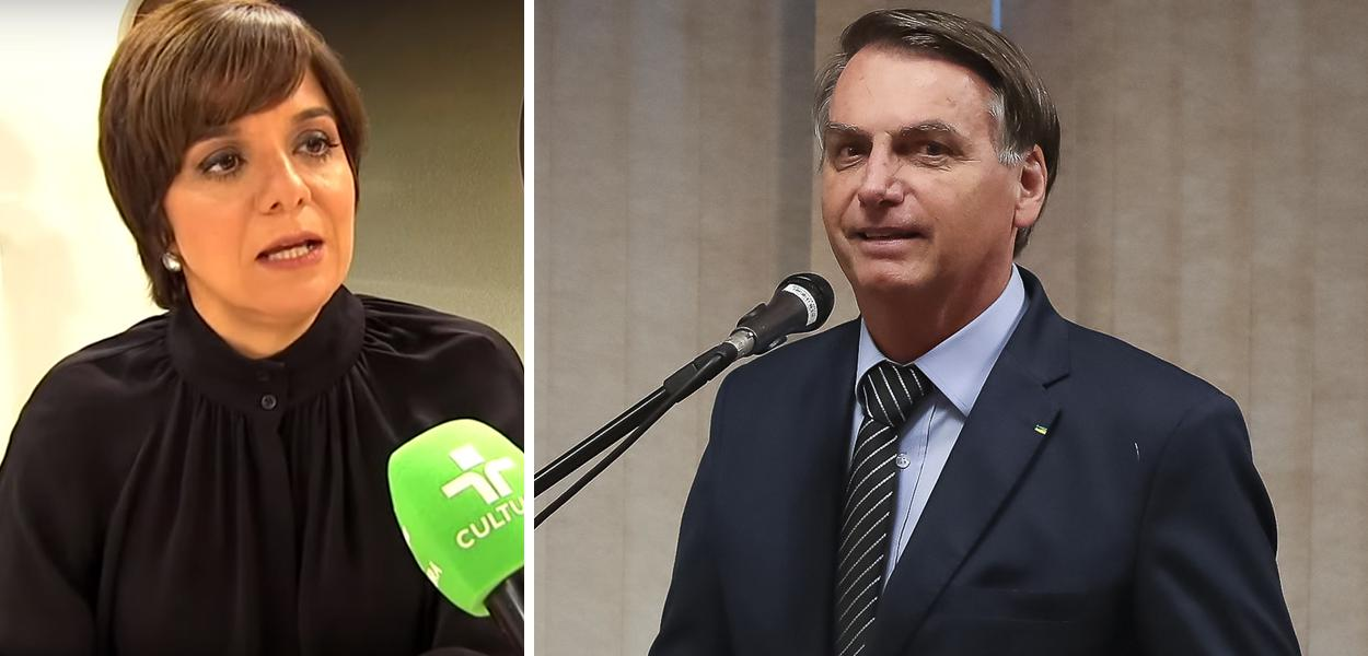 Vera Magalhães e Jair Bolsonaro
