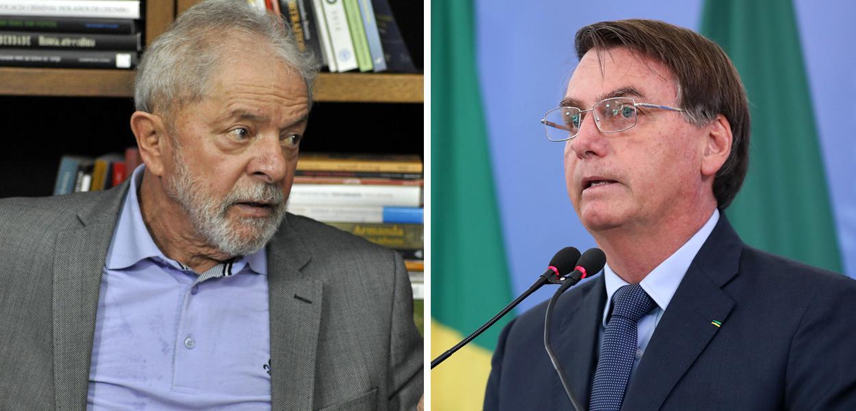 Ex-presidente Lula e Jair Bolsonaro