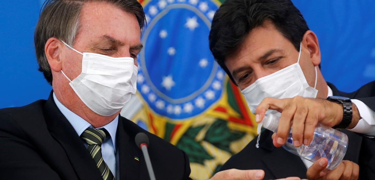 Jair Bolsonaro e Luiz Henrique Mandetta