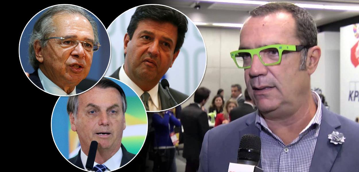 Paulo Guedes, Jair Bolsonaro, Luiz Henrique Mandetta e Tito Bessa