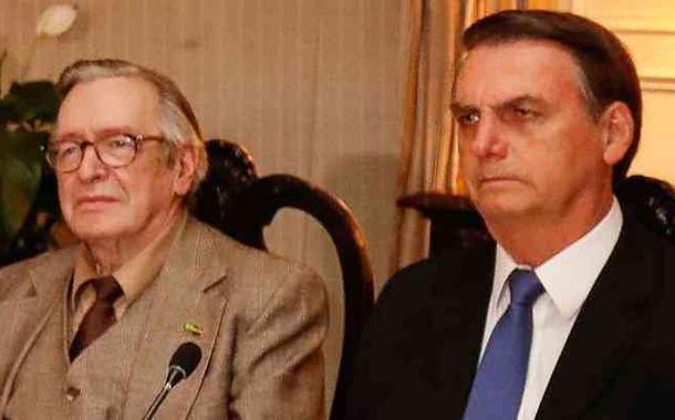 Olavo de Carvalho e Jair Bolsonaro