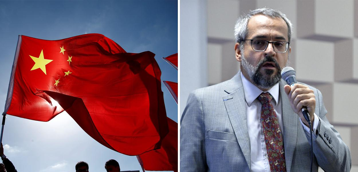 Bandeira daChina e Abraham Weintraub