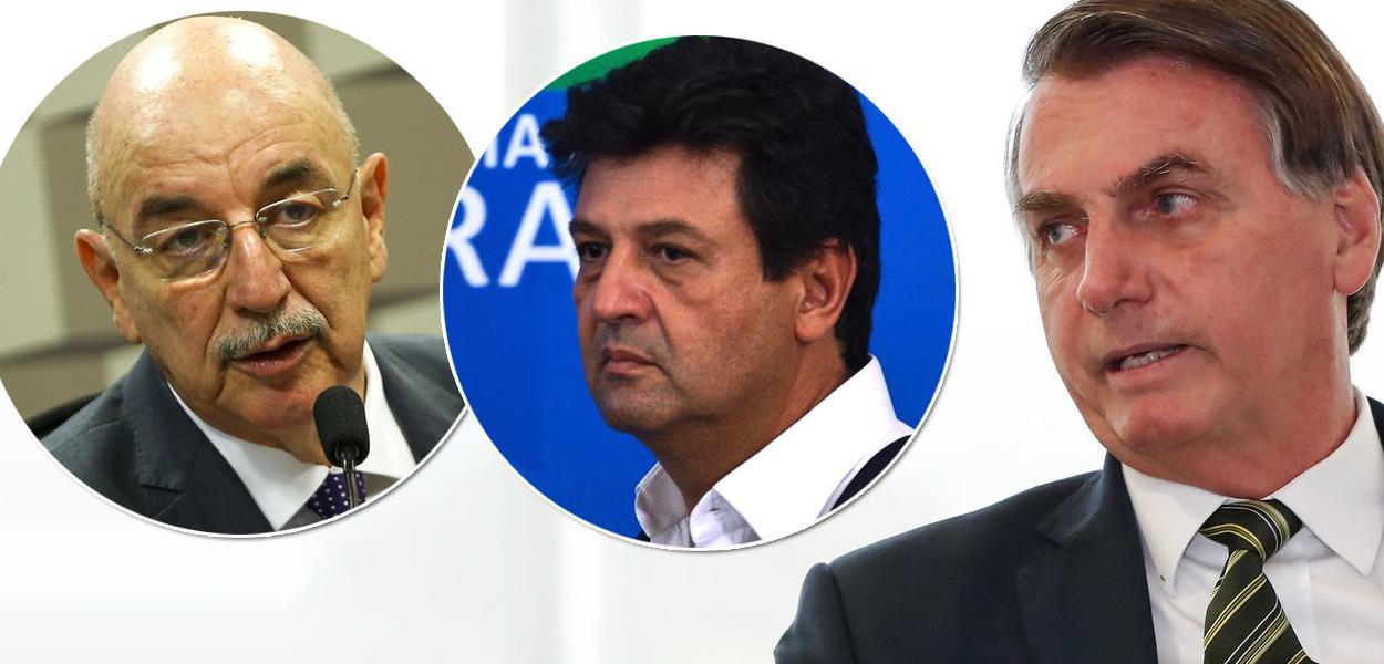 Osmar Terra, Luiz Henrique Mandetta e Jair Bolsonaro