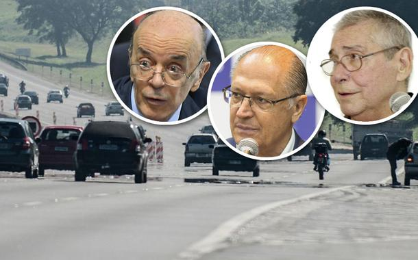 Rodovia Imigrantes, José Serra, Geraldo Alckmin e Mário Covas