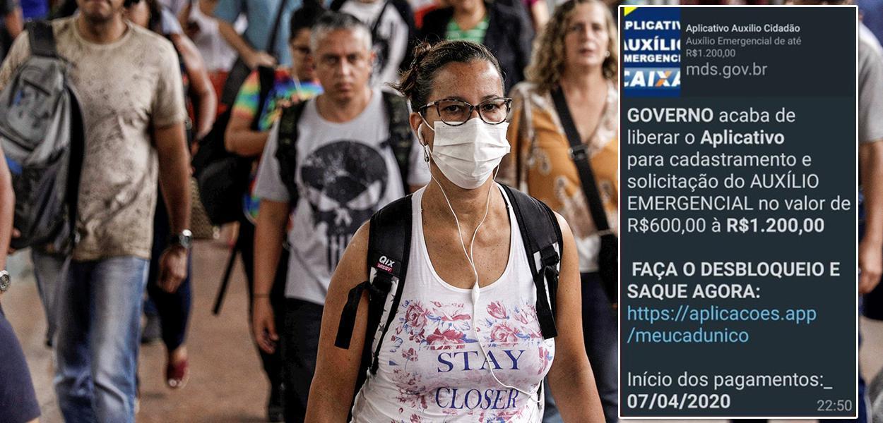Golpe sobre falso cadastro para auxílio de R$ 600 já fez 6,7 milhões de vítimas
