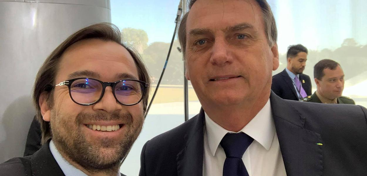 Vavá Martins e Jair Bolsonaro