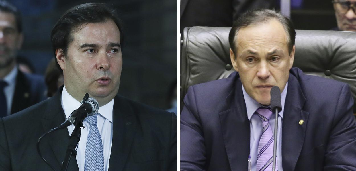 Rodrigo Maia e Reinhold Stephanes Junior