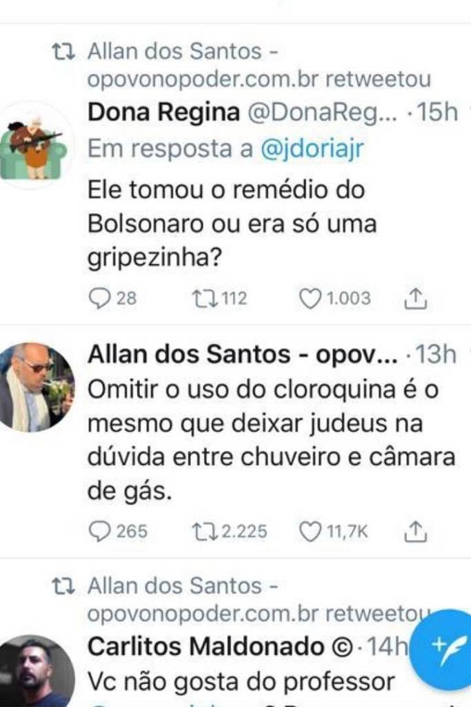 Tweets Allan dos Santos