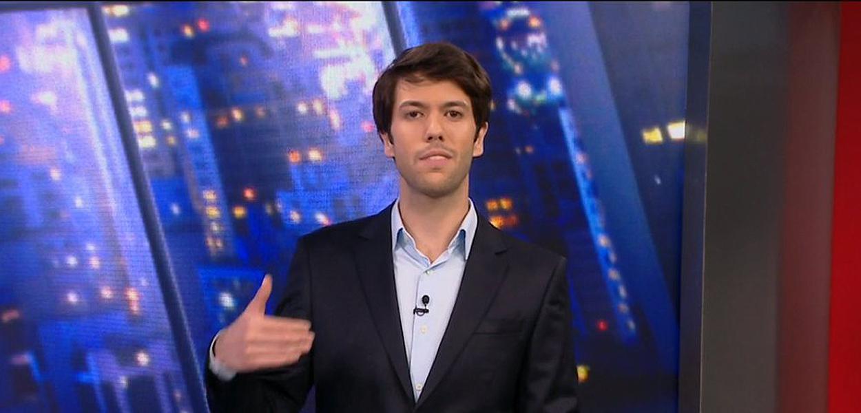 Caio Coppolla usou CNN para fazer merchandising de candidato do Novo para o qual trabalhou em 2018