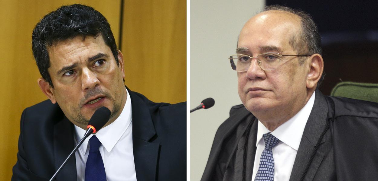 Sérgio Moro e Gilmar Mendes