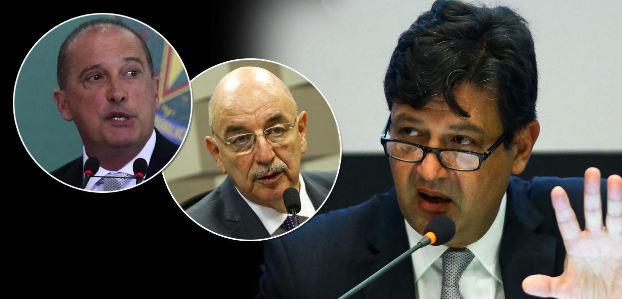 Onyx Lorenzoni, Osmar Terra e Luiz Henrique Mandetta