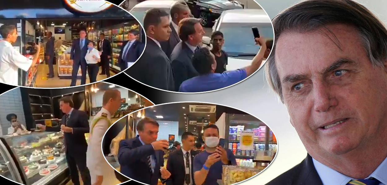 Bolsonaro para em padaria, abraça apoiadores e volta a defender fim do isolamento (vídeo)