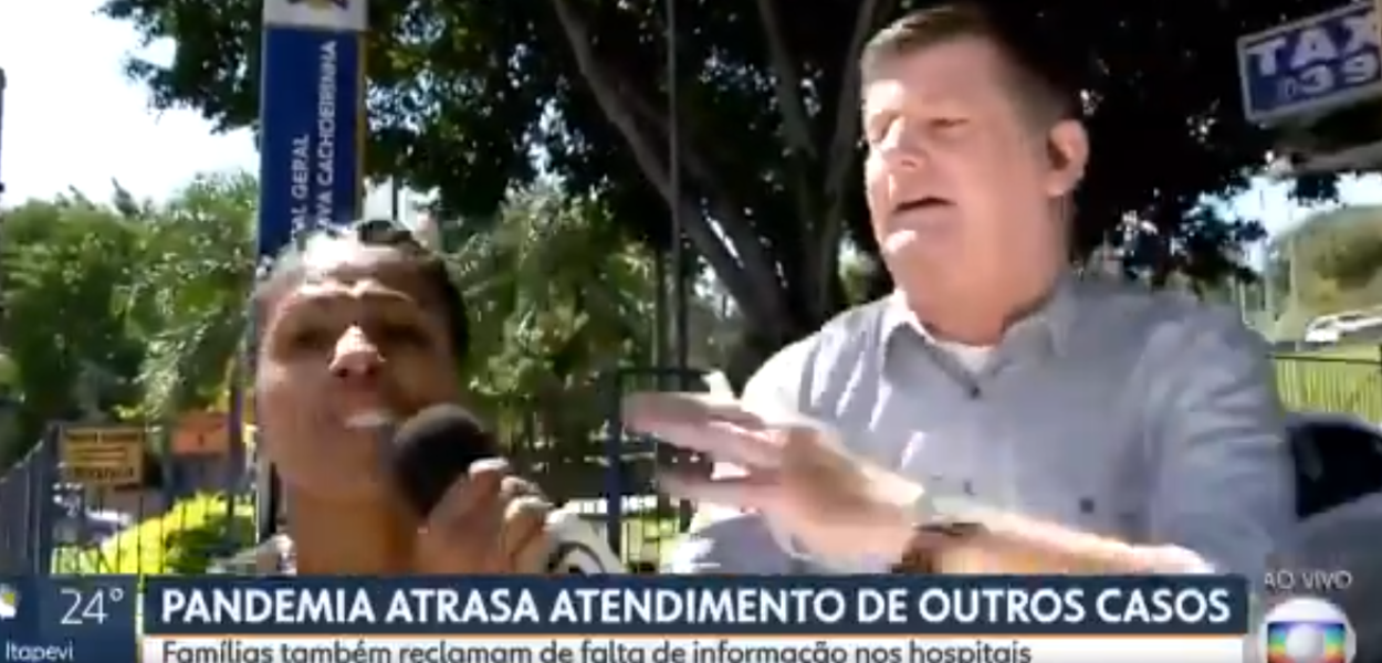 Renato Peters é atacado por apoiadora de Jair Bolsonaro