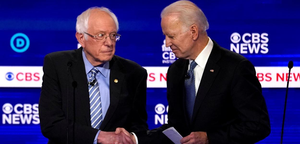 Bernie Sanders e Joe Biden