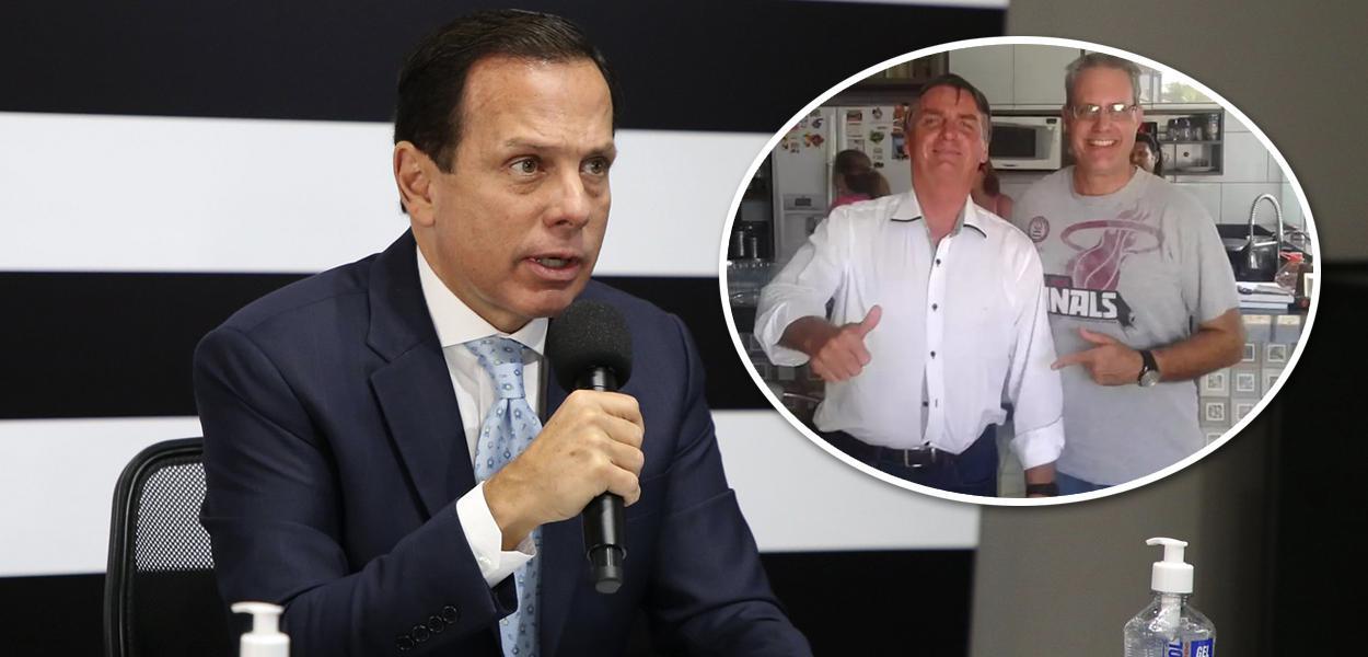 João Doria, Jair Bolsonaro e Marcelo Pegoraro