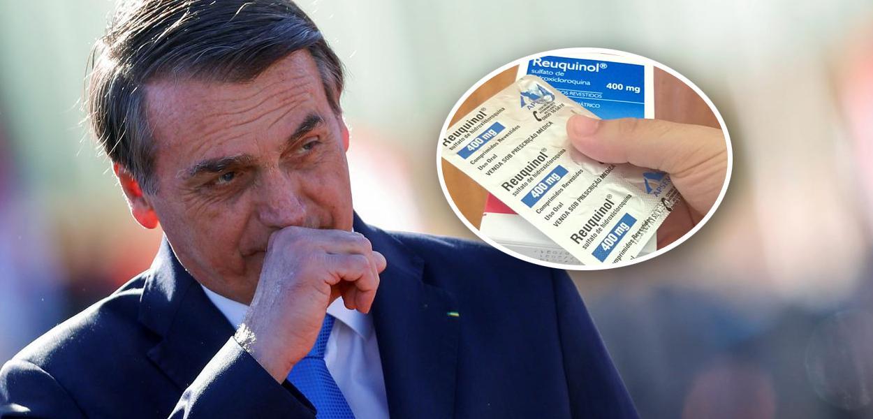 Profissional da saúde com comprimido de hidroxicloroquina em hospital de Porto Alegre (RS) 23/04/2020