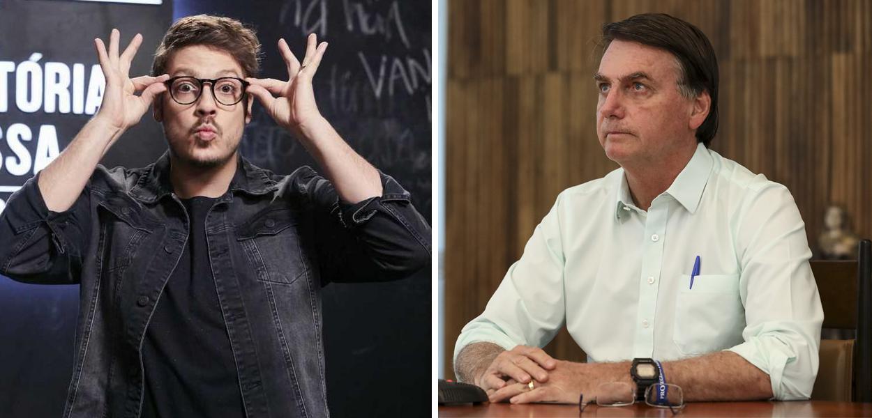Fábio Porchat e Jair Bolsonaro