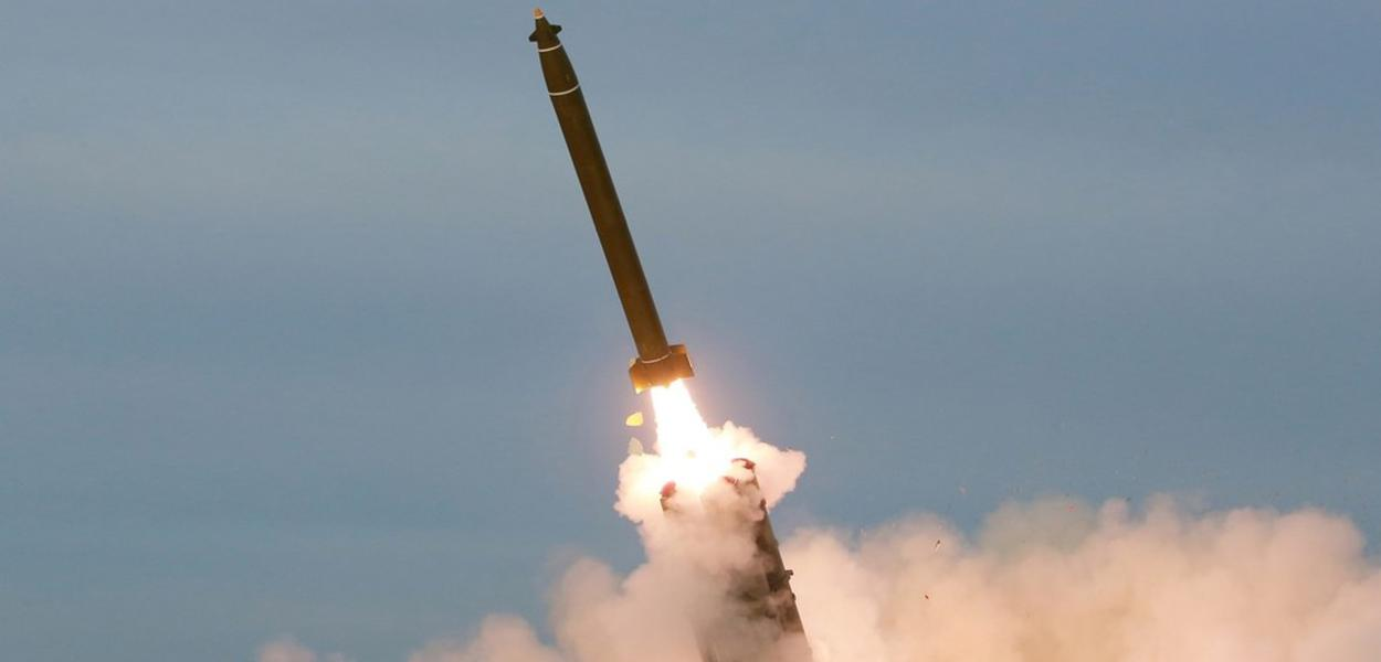 Disparo de míssil na Coreia do Norte