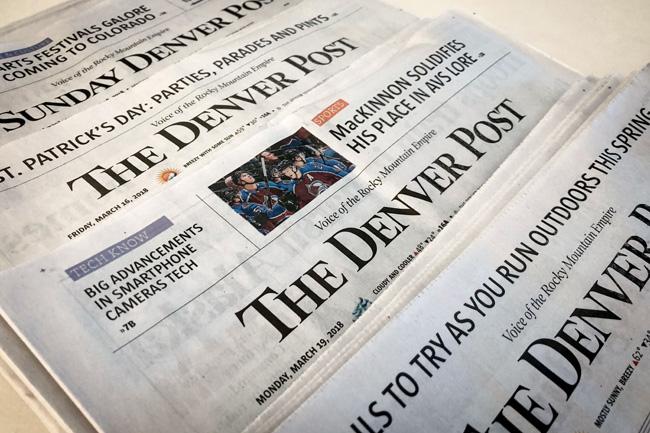 Capas do jornal The Denver Post
