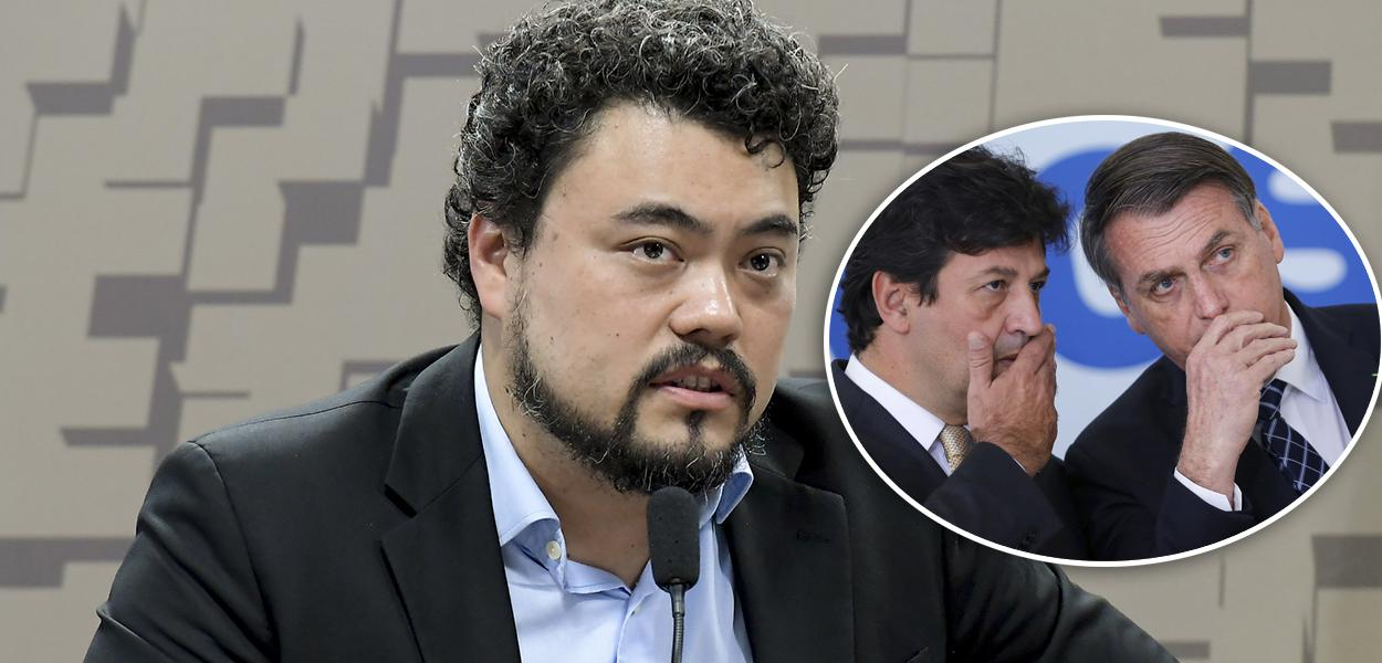 Leonardo Sakamoto, Luiz Henrique Mandetta e Jair Bolsonaro