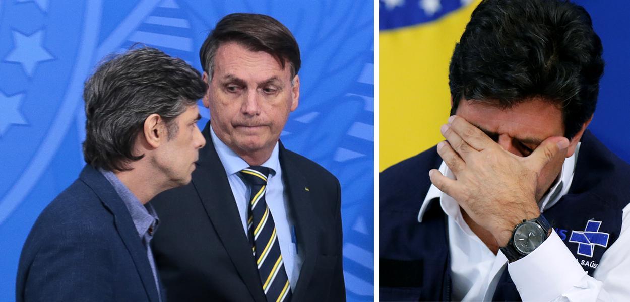 Nelson Teich, Jair Bolsonaro e Nelson Mandetta