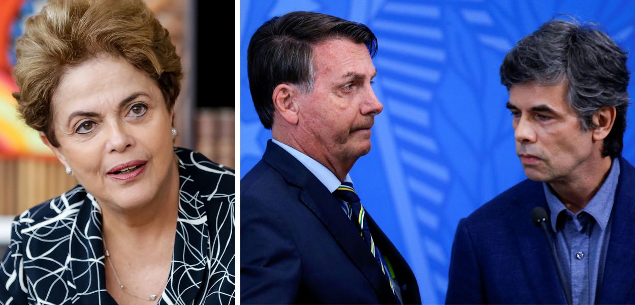 Dilma Rousseff, Jair Bolsonaro e Nelson Teich