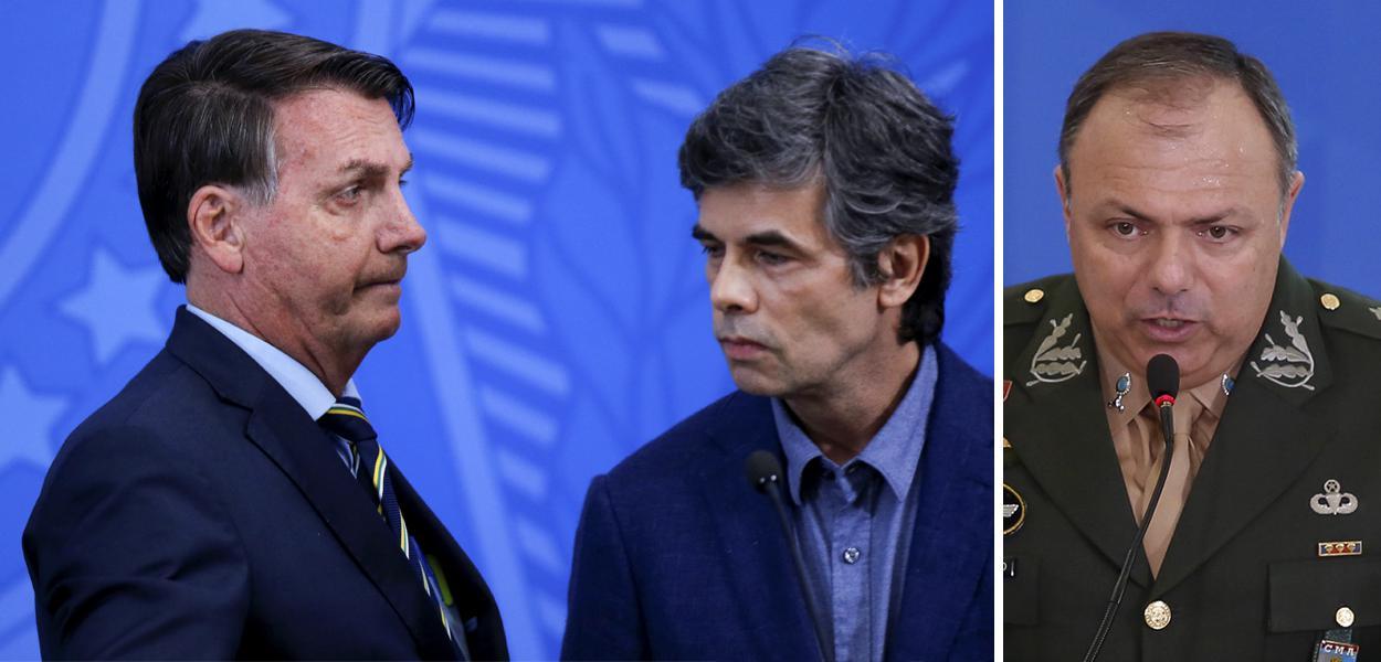 Jair Bolsonaro, Nelson Teich e General Eduardo Pazuello