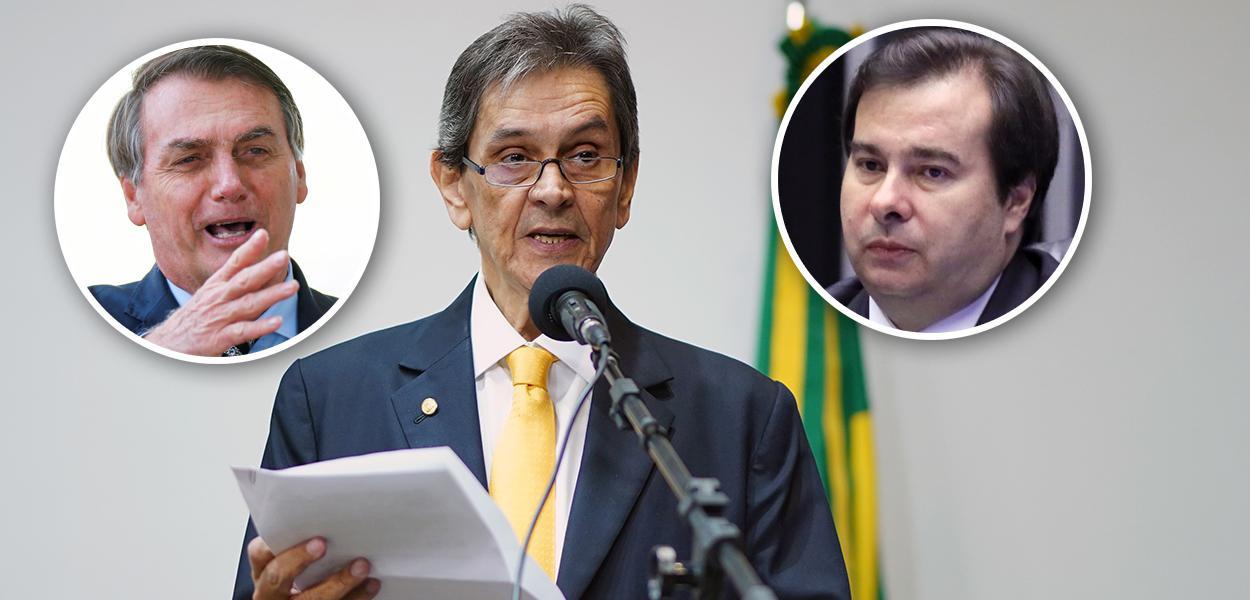 Jair Bolsonaro, Roberto Jefferson e Rodrigo Maia