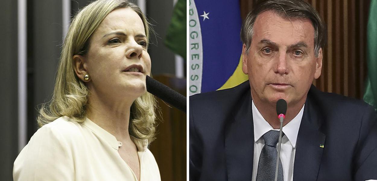 Presidente do PT, Gleisi Hoffmann (PR) aponta negligência de Jair Bolsonaro ao estimular o fim da quarentena
