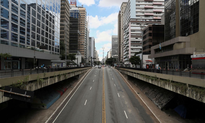 Quarentena contra coronavírus em São Paulo deixa as ruas vazias