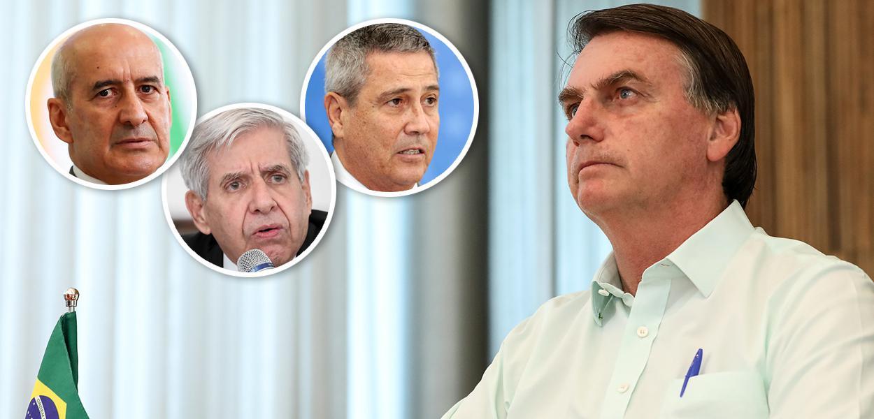 Luiz Eduardo Ramos, General Heleno, General Braga Netto e Jair Bolsonaro