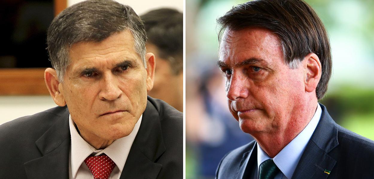 Santos Cruz e Bolsonaro