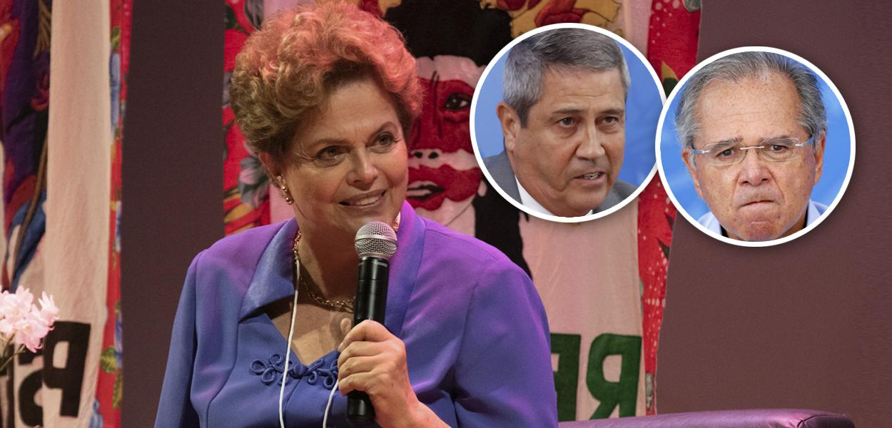 Dilma Rousseff, General Braga Netto e Paulo Guedes